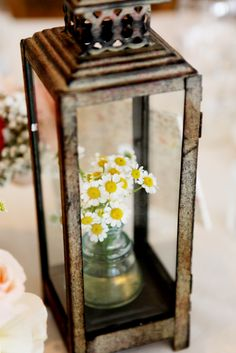 Lantern with Florals. The Little Branch