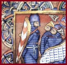 Despite being opposed to \'maille gloves\' in favour of maille mufflers previously- this image goes a long way to proving their existence. The separate fingers are clearly visible in the knights observing the death of Absalom in the Winchester Bible (c.1170).