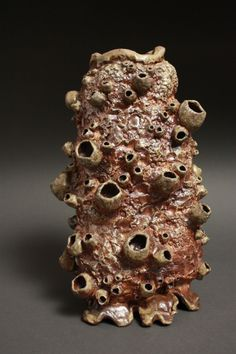 Vase Wood Fired This barnacle vase was handmade by ceramic artist Meghan Bergman and wood-fired in an Anagama style wood kiln. Textile Artists, Ceramic Artists, Wood Kiln, Clay Texture, Macro And Micro, Sculpture Projects, Water Fountains, Contemporary Ceramics, Handmade Felt