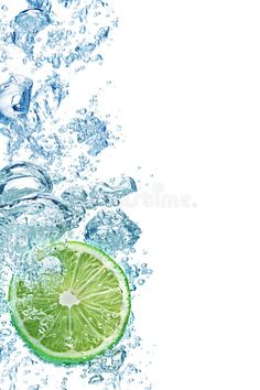 Bubbles in blue water. Bubbles forming in blue water after lime is dropped into , Sugar Scrub Diy, Diy Scrub, Motion Photography, Creative Photography, Paper Background Design, Jugo Natural, Water Drawing, Watercolor Pictures, Beautiful Fruits