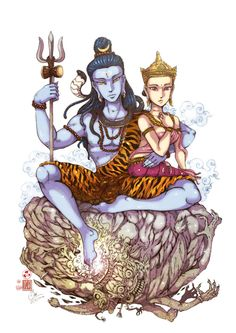 Lord Shiva  By Insine Cartoonist Little Kailash : Family https://store.line.me/stickershop/product/1004834/en