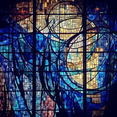 Lyrical light. Stained glass. Saint Michael & All Angels. Dallas TX. (by redblank)