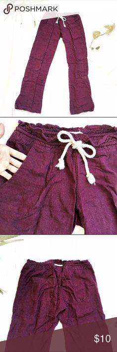 663203ca318f08 [Roxy] Deep Purple Comfortable Lounge Pants Lovely deep purple lounge pants  that are very