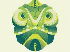 Geometric Chameleon Illustration (DKNG Skillshare Project)