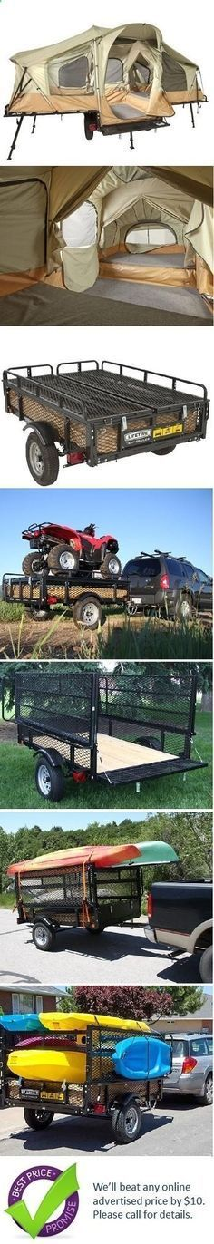 Lifetime Tent Trailer... this is the only way i would ever consider staying in a tent. No finding level ground, no stream running thru your tent when it rains....nice that you can haul other stuff on the trailer too.
