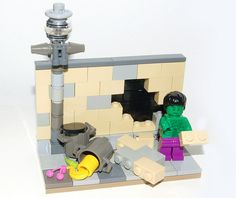 The Incredible Hulk - LEGO by Craig 'Lego' Lyons, via Flickr