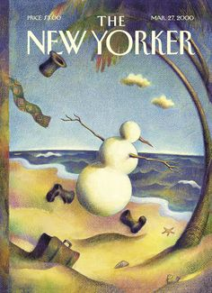 """The New Yorker - Monday, March 27, 2000 - Issue # 3883 - Vol. 76 - N° 5 - Cover """"Winter Is Sprung"""" by Raul Colón"""
