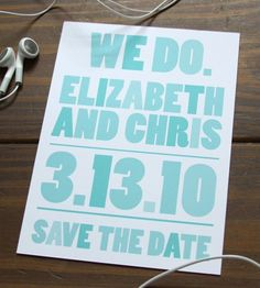Typography can be the design in a wedding invitation and your brides can have their invitations custom designed to suite their style.