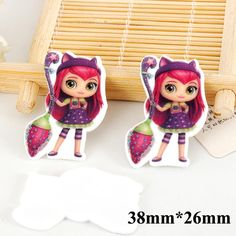 50pcs Cartoon Little Charmers Hazel Flatback Resins Kawaii Planar Resin Crafts DIY Christmas Home Decoration Accessories