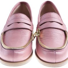 Designer Clothes, Shoes & Bags for Women Loafer Shoes, Loafers, Small Heel Shoes, Short Heels, Shoe Boots, Shoe Bag, Pink Shoes, Signature Style, Womens Flats