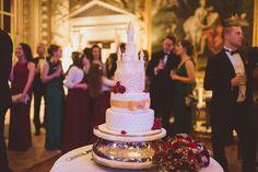 Castle Wedding Cake   Disney Princess Wedding   Allure Bridals   Moor Park Wedding Venue   Jimmy Choo   Winter Wedding   Matt Penberthy Photography   http://www.rockmywedding.co.uk/bryony-simon/