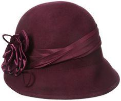 Sakkas Marilyn Vintage Style Wool Cloche Bucket Winter Hat With Satin Flower At Vintage Outfits, 1920s Outfits, Pin Up Outfits, Vintage Style Dresses, Fashion Outfits, Vintage Hats, Fashion Hats, Fashion Fashion, Fashion Black