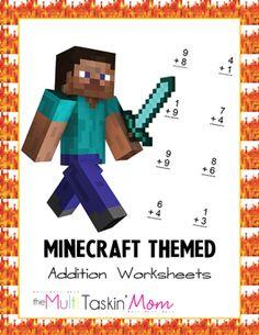 Free Printable Minecraft Math Worksheets - Thrifty Jinxy