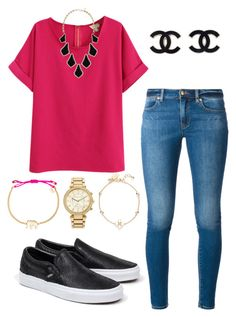"""""""Casual dayy"""" by l-deutsch99 on Polyvore featuring MICHAEL Michael Kors, Kendra Scott, Vans, Stella & Dot and Kate Spade"""