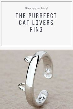 This is the purrfect cat lovers ring and is a must for your jewelry collection and cat jewelry collection. Dog Jewelry, Animal Jewelry, Cat Lover Gifts, Cat Lovers, Personalized Phone Cases, Cat Products, Dog Necklace, Cat Ring, Cat Ears
