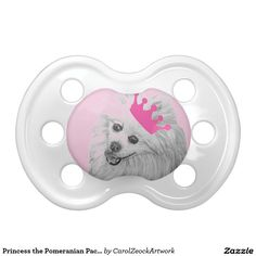 Princess the Pomeranian Pacifier by Carol Zeock BooginHead Pacifier