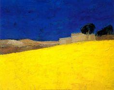 Bernard Cathelin Landscape Prints, Abstract Landscape, Landscape Paintings, Paint Photography, Landscape Photography, Pastel Art, Painting Inspiration, Painting & Drawing, Illustration Art