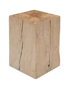 Add a rustic charm to your office with the Nuevo Kota Square Stool. Made from architectural solid wood beams from France! Available at Hudson's Bay.