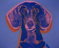 Andy Warhol, Dachshund print 16 Brilliant Artists And Their Animal Muses