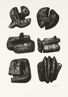 Henry Moore OM, CH 'Six Stones', 1973 © The Henry Moore Foundation. All Rights Reserved