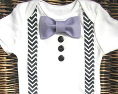 Baby Boy Clothes First Easter Boy Suspender Bow by SewLovedBaby