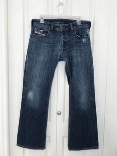 Diesel Industry Zathan Jeans Men's size 31 Button Fly Blue Denim Distress   (A4)  | eBay
