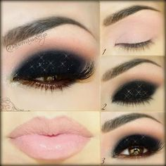 Dark and Daring for New Years Eve...and Nude Lips to Mysteriously leave NO trail of kisses...