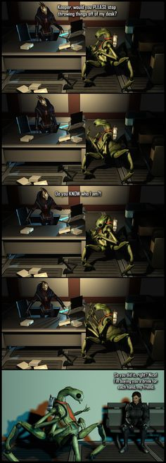 All in a Day's Work by *Lordess-Alicia on deviantART  ~  Now we all know the real reason Shepard chose to save the Council.