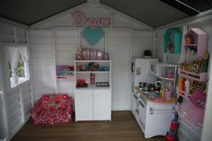 Cubby House inside (Castle & Taj Mahal from Aarons Outdoor Living) - Cubby House Interior