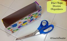 Easy #DIY drawer organizers.  #Reuse old cereal boxes and duct tape to go #green while you get organized!