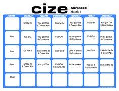 cize advanced calendar Cize month 1 workout calendar | Workout Calendars and Schedules ...