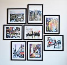 Diy framed calendar prints gallery wall creativity and walls diy make old calendars into wall art solutioingenieria Images