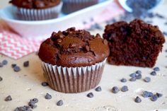 The Busy Baker: Double Chocolate Zucchini Muffins Cupcakes, Cannoli, Double Chocolate Zucchini Muffins, Cocoa Cinnamon, Feel Good Food, Bakery, Food And Drink, Yummy Food, Favorite Recipes