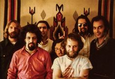 """Robert Crumb and Friends - The """"Seven Samurai of Zap"""" from left, Rick Griffin, Spain Rodriguez, Robert Williams, Robert Crumb, Gilbert Shelton, S. Clay Wilson and Victor Moscoso"""