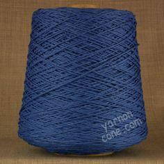 Soft Italian double knitting DK cotton yarn on cone -  cobalt blue