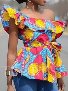 Latest African Fashion Dresses, African Print Dresses, African Print Fashion, Africa Fashion, African Dress, African Tops For Women, African Wear Styles For Men, Blouses For Women, African Fashion Traditional