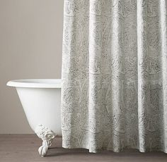 Cotton & Linen Shower Curtains | Restoration Hardware