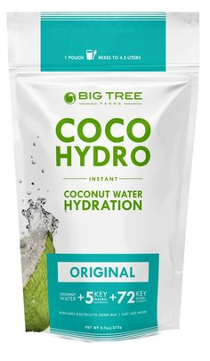 Cocohydro Original Instant Coconut Water x oz) for sale online Coconut Oil For Skin, Coconut Water, Coconut Milk, Natural Electrolytes, Healthy Energy Drinks, Electrolyte Drink, Smoothie Packs, Cacao Powder, Natural Flavors