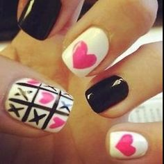 Nail Art Designs are one of the most famous type of artwork among the ladies. Nail art designs are the decoration of nails with beautiful, unique drawings. Get Nails, Fancy Nails, Love Nails, How To Do Nails, Pretty Nails, Style Nails, Diy Ongles, Nailed It, Valentine Nail Art