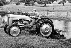 """""""Harry"""" Ferguson (1884-1960) Irish engineer and inventor, who designed a lightweight tractor and three-point hydraulic hitch for agricultural implements (used on a 'handshake' agreement by Henry Ford), the first Irishman to build and fly his own aeroplane, and developer of the first four-wheel drive Formula One car (the Ferguson P99). His name remains in the Massey Ferguson brand."""