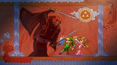 HD wallpaper: Zelda illustration, The Legend of Zelda, Link, Triforce, Ganondorf The Legend Of Zelda, Nintendo, Twilight Princess, Princess Zelda, Wind Waker, Widescreen Wallpaper, High Fantasy, Original Wallpaper, Breath Of The Wild