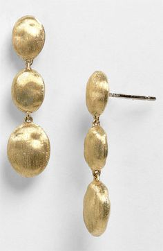 Marco Bicego 'Siviglia' Drop earrings......these would light up a face.....on a dreary night like this!!!