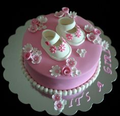 Baby girl cake. This is precious. :)