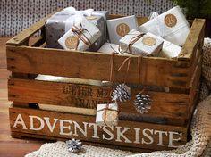 Adventskalender in der Kiste
