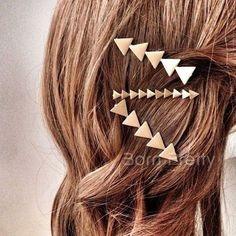 1Pc Épingle Aux Cheveux Peigne Géométrique Triangle Doré/Argenté Hair Pin Simple