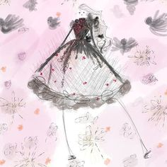 Bird's Nest   _ . . . _  #Fashion #ootd #fashionart #fashionisart #fashiondrawing #fashionista #art #illustration #fashionillustration #fashiondesign #birdsofinstagram #flowers #steampunk #seedscolor #acolorstory #livecolorfully