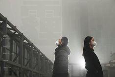 攝影師李傑(化名)和他的同事在工作室樓上的天台拍攝的照片之一。