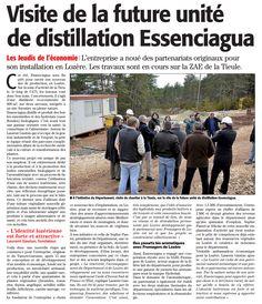 Zoom sur l'installation d'Essenciagua en #Lozère dans Midi Libre - Avril 2016
