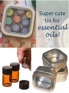 Love these super cute tins! They're perfect for holding 9-10 essential oil sample vials. Great for carrying oils in your bag. This would make a really fun and easy craft for a make & take class!!