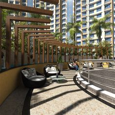 Central sitting area inside #MarinaEnclave in #Malad. For details visit: http://gurukrupagroup.com/marina.html